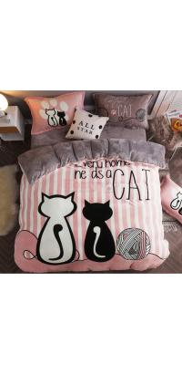 Постельное белье Cool Cat pink